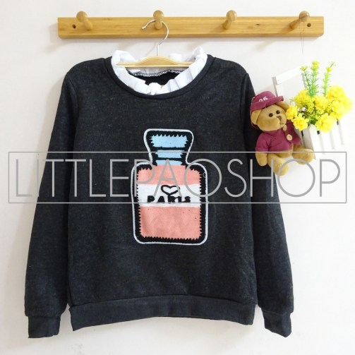 [IMPORT] Perfume Vintage Sweater (black) - ecer@80rb - seri4w 300rb - rajut - fit to L
