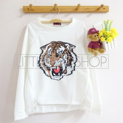[IMPORT] ROAR Sweater (White) - ecer@76rb - seri3w 213rb - wedges tekstur - fit to L