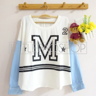 M Denim Longsleeve (white) - ecer@65rb - seri4pcs(2navy2white) 240rb - spandex+denim - fit to L