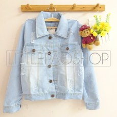 Miley Destroy Jacket - ecer@95rb - seri3pcs 270rb - jeans tebal - fit to L