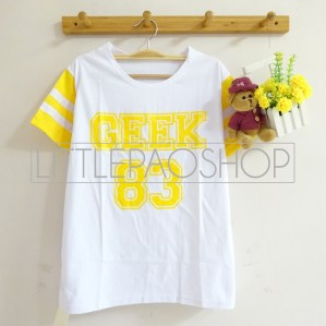 Rainbow GEEK 83 Tee (yellow) - ecer@45rb - kaos - fit to L