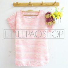 Stripes Organdy Top (pink) - ecer@62rb - seri4w 228rb - organza+furing - fit to L besar