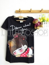 Girl Dream About You (Black) - ecer @40rb - seri3w 105rb - kaos - fit to L