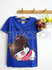 Girl Dream About You (Blue) - ecer @40rb - seri3w 105rb - kaos - fit to L