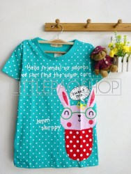 Rabbit In Pocket Tee (Green) - ecer@40 - seri2w 70rb - kaos - fit to L