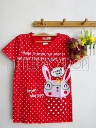 Rabbit In Pocket Tee (Red) - ecer@40 - seri2w 70rb - kaos - fit to L