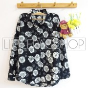 Vintage Sunflower Shirt (black) - ecer@65rb - seri4pcs(2navy 2black) 240rb - twistcone - fit to L