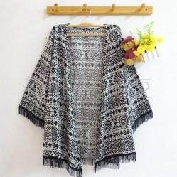 Aztec Fringe Kimono - ecer@70rb - seri3pcs 195rb - rayon - fit to L