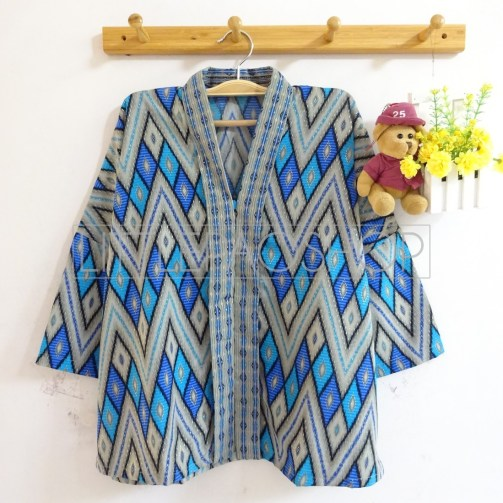 Dewantara Kimono Top (blue) - ecer@75rb - seri4w 280rb - songket - fit to L