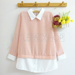 Elbow Macaroni Collar Top (peach) - ecer@70rb - seri4w 260rb - twistcone - fit to L