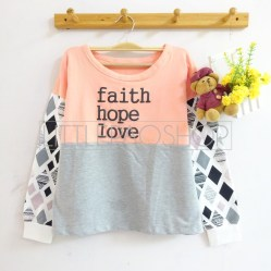 Faith Hope Love Sweater (pink) - ecer@70rb - seri4w 260rb - babyterry - fit to L