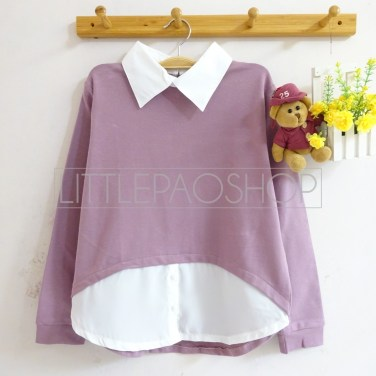HiLo Collar Sweater (purple) - ecer@76rb - seri4w 284rb - babyterry - fit to L