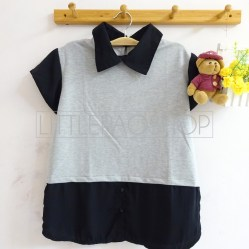 Schoolgirl Top (grey) - ecer@70rb - seri4pcs(2black2grey) 260rb - fit to L