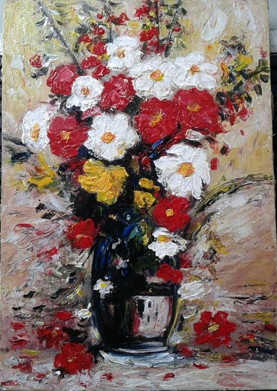 087838671118 Lukisan Bunga Gambar Lukisan Bunga