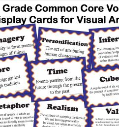 Common Core Language Arts Vocabulary for Visual Arts for 6th Grade - The  smARTteacher Resource [ 1275 x 1650 Pixel ]