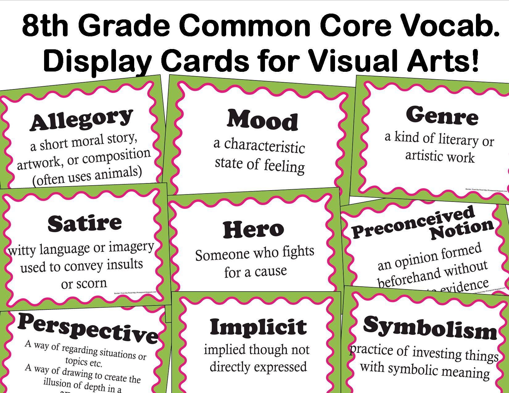 The Smartteacher Resource Common Core Language Arts Vocab