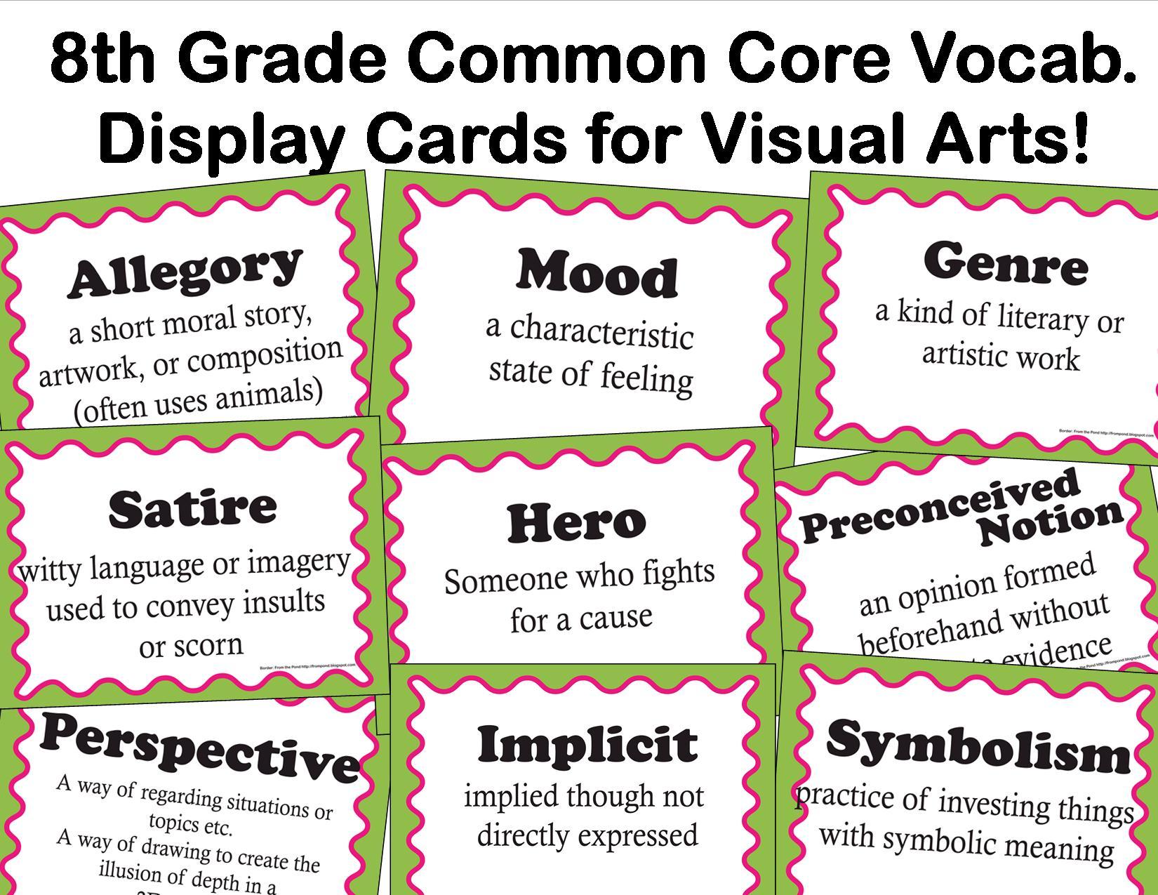 The Smartteacher Resource Common Core Language Arts Vocab