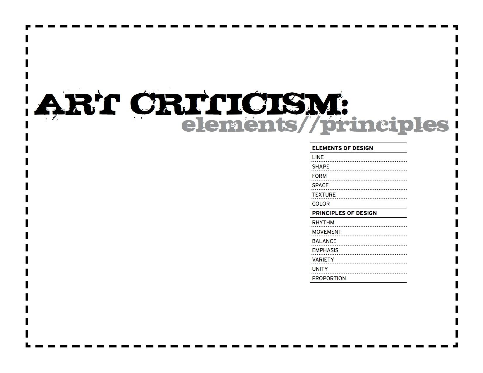 The smARTteacher Resource: Art Criticism Cheat Sheet!