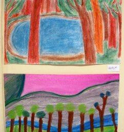 The smARTteacher Resource: Wolf Khan Inspired Landscapes [ 3225 x 2246 Pixel ]