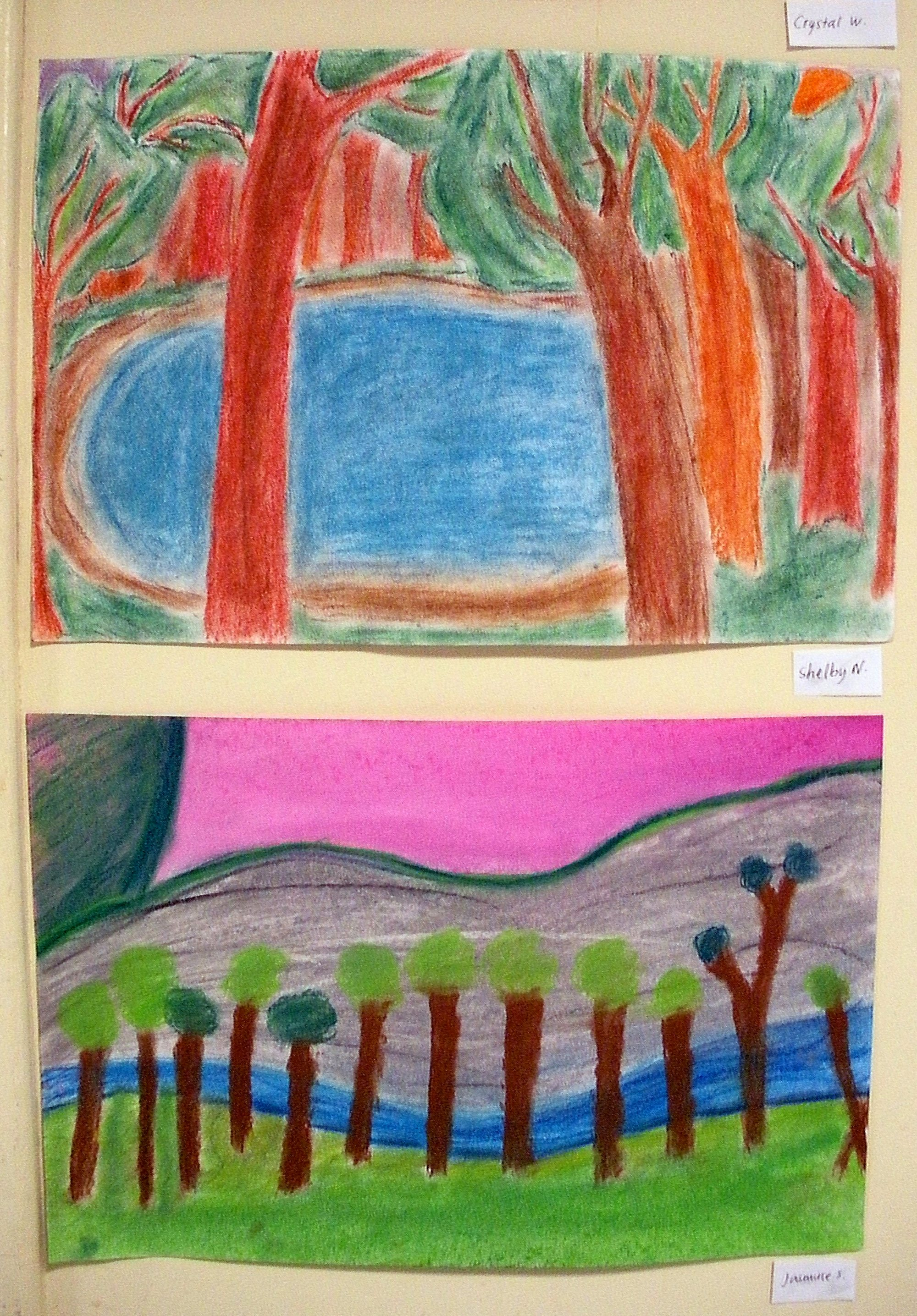 hight resolution of The smARTteacher Resource: Wolf Khan Inspired Landscapes