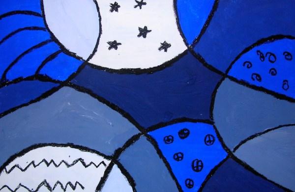 Monochromatic Color Scheme Art