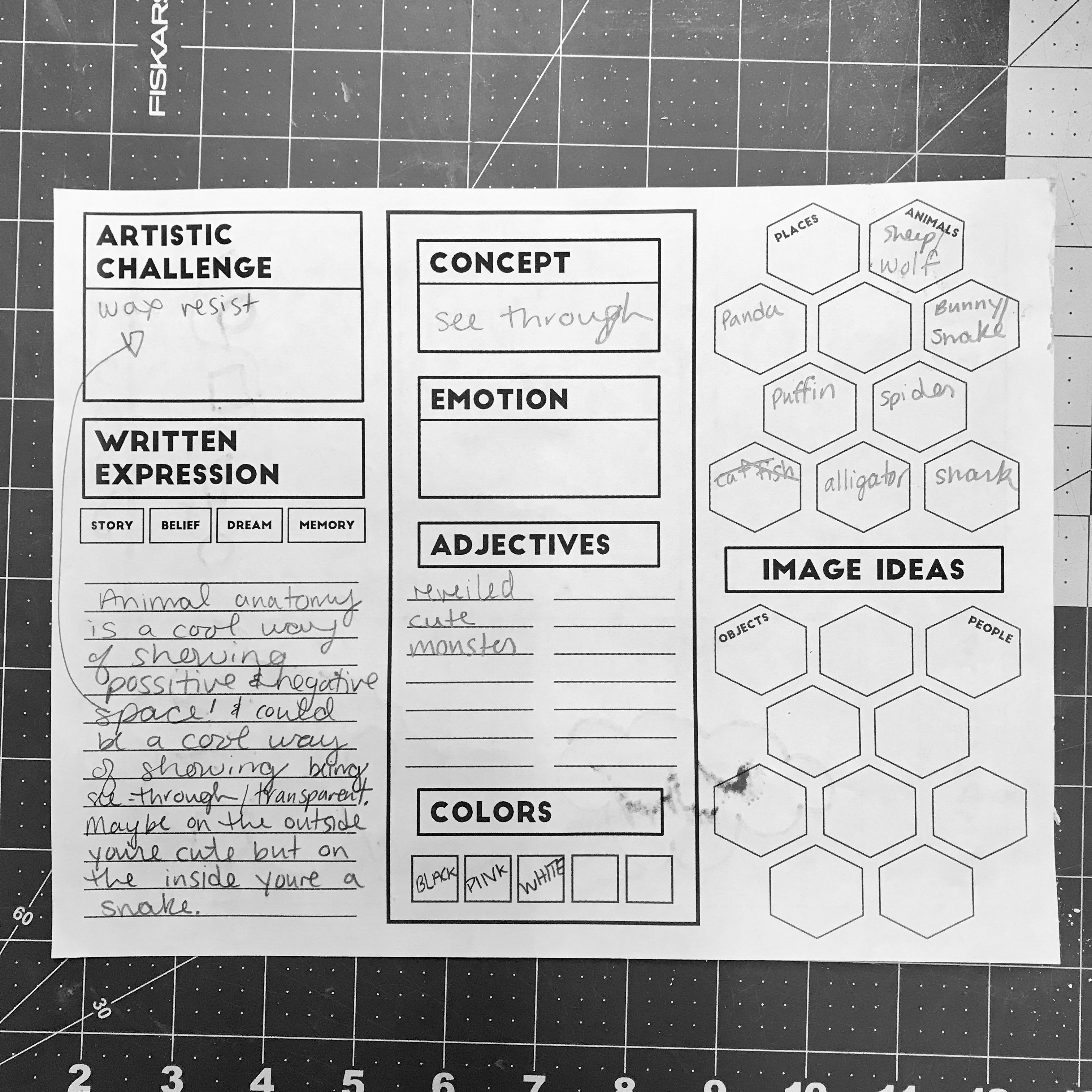 The Smartteacher Resource Creativity Brainstorm Worksheet