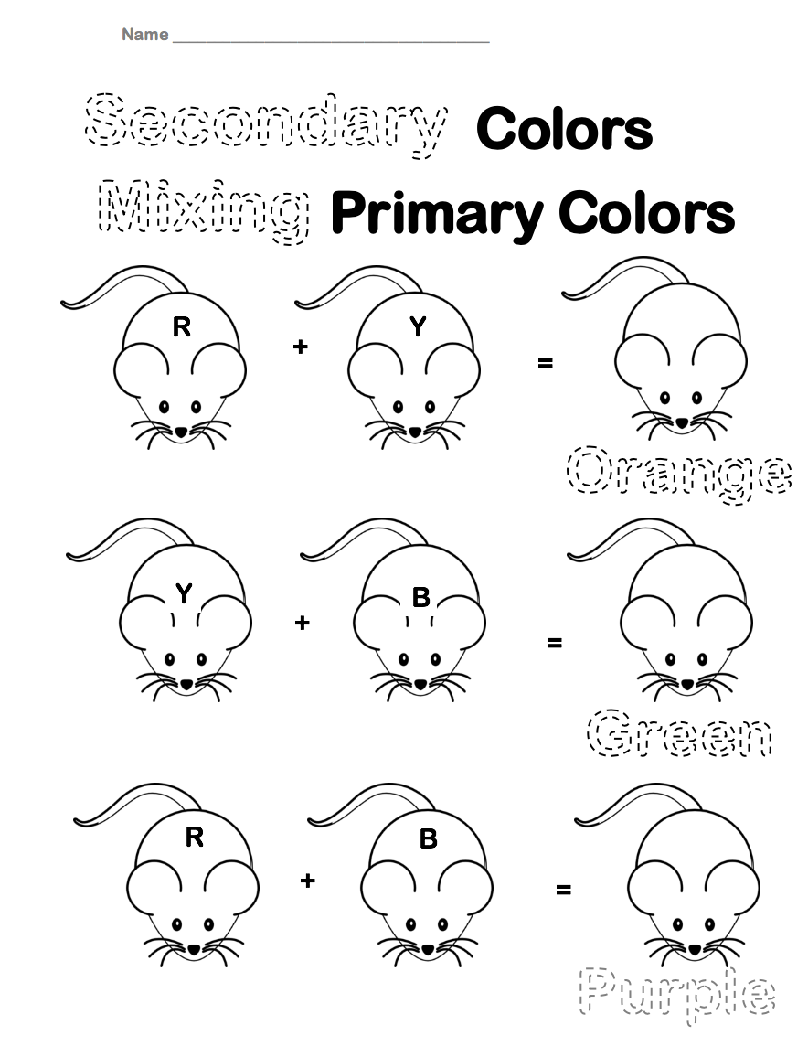 The smARTteacher Resource: Secondary Colors Worksheet