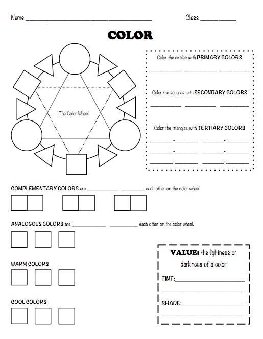 The smARTteacher Resource: Color Worksheet