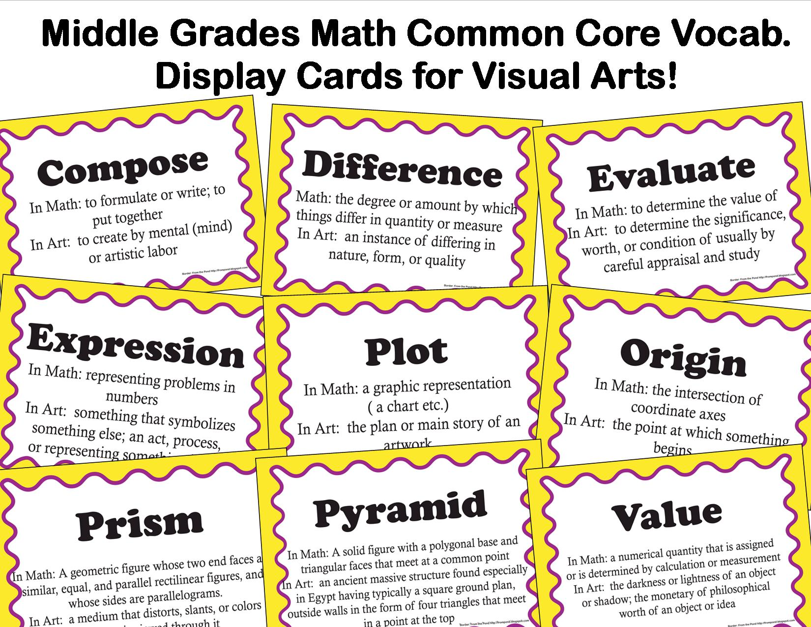 The Smartteacher Resource Common Core Vocabulary For