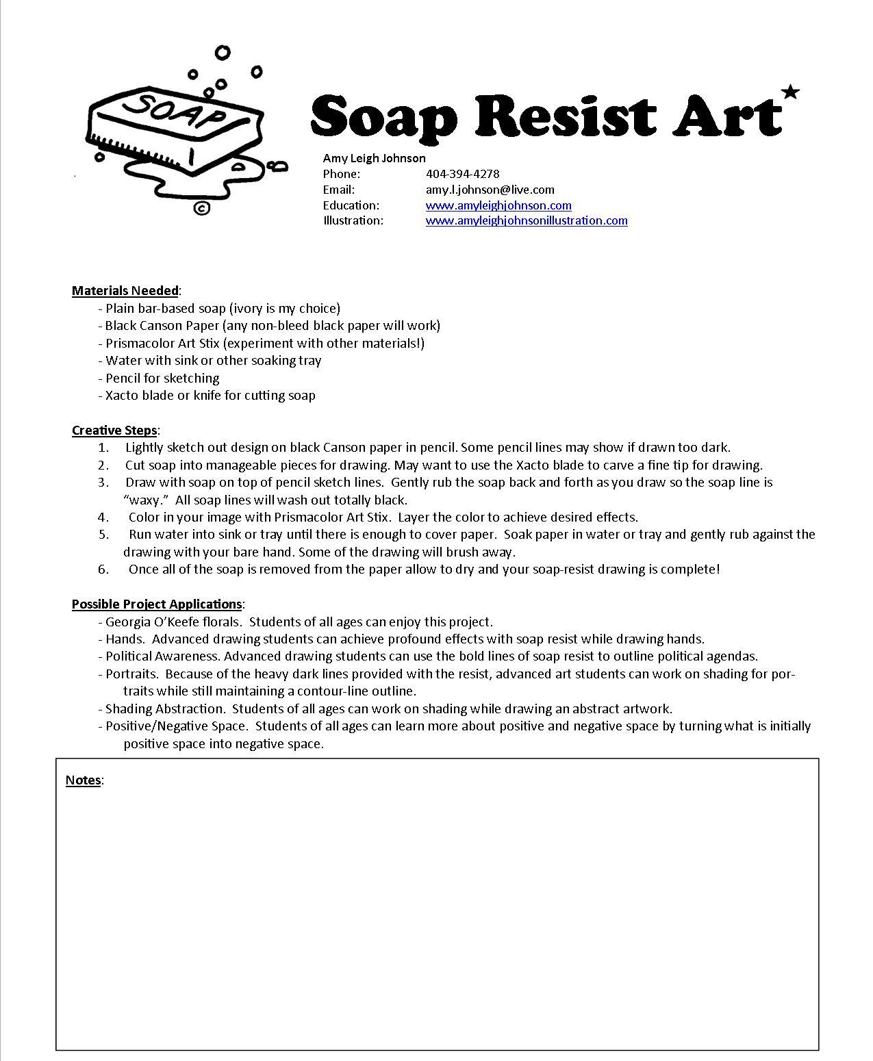 The Smartteacher Resource Soap Resist Flowers