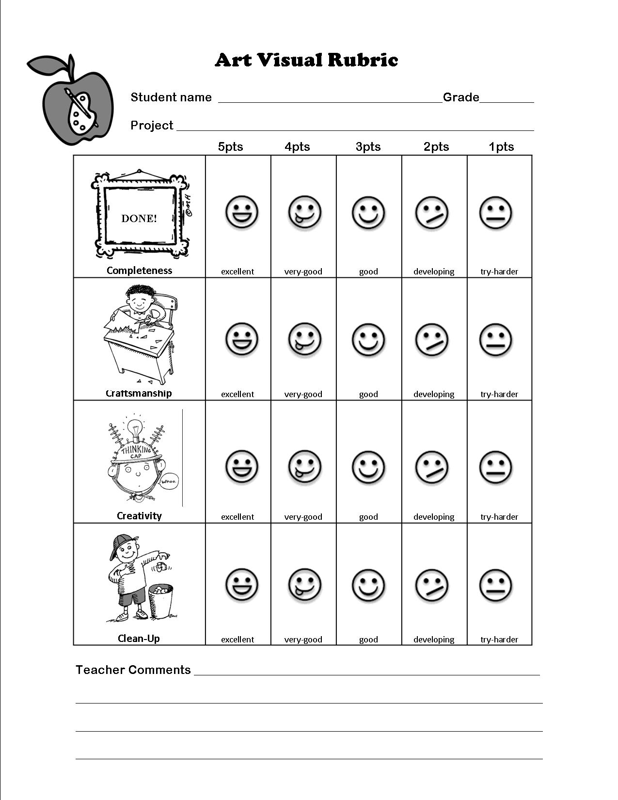 The Smartteacher Resource Art Assessment For Non Readers