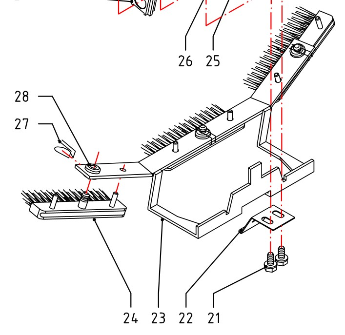 Inserter Brush Holder A04.29.94 replaced replaced 46.04.60