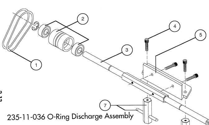 Model 1 Discharge O-Ring replaces 23500090