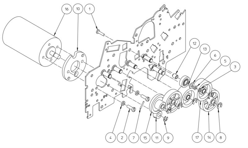 C11PID0146 MOTOR,GEAR old C11PID0051, 11PID0146