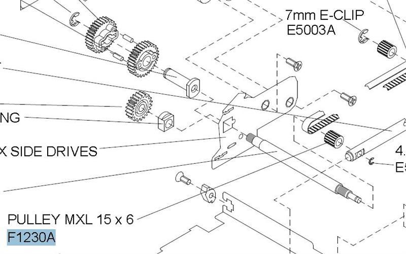 F1230A Pulley Mxl 15X6mm PFEF1230A