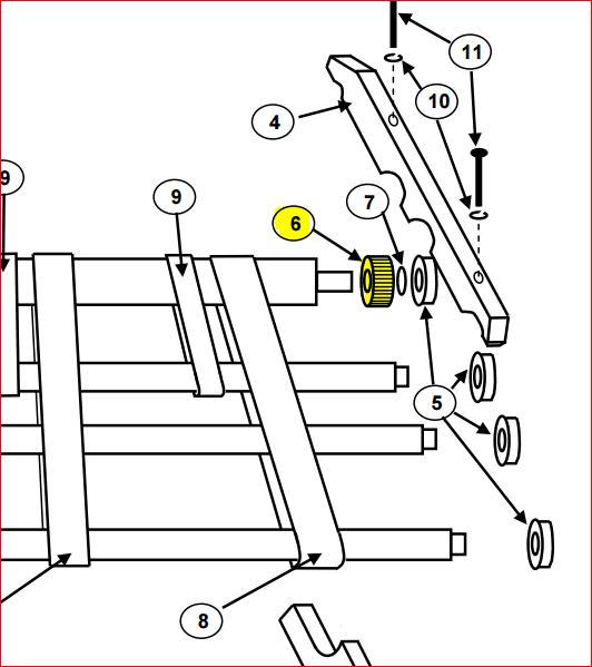 Pulley, 16 xl 037-3FA6, Shaft Drive