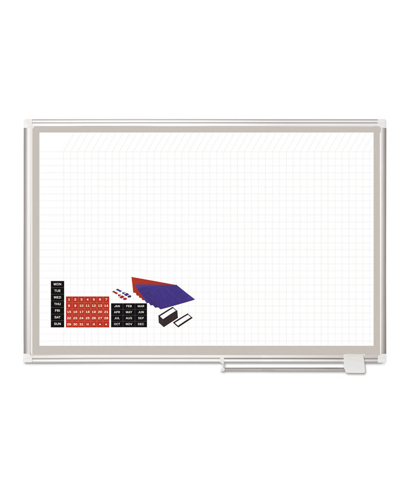 All Purpose Magnetic Planning Board, 1 x 2 Grid, 48 x 36