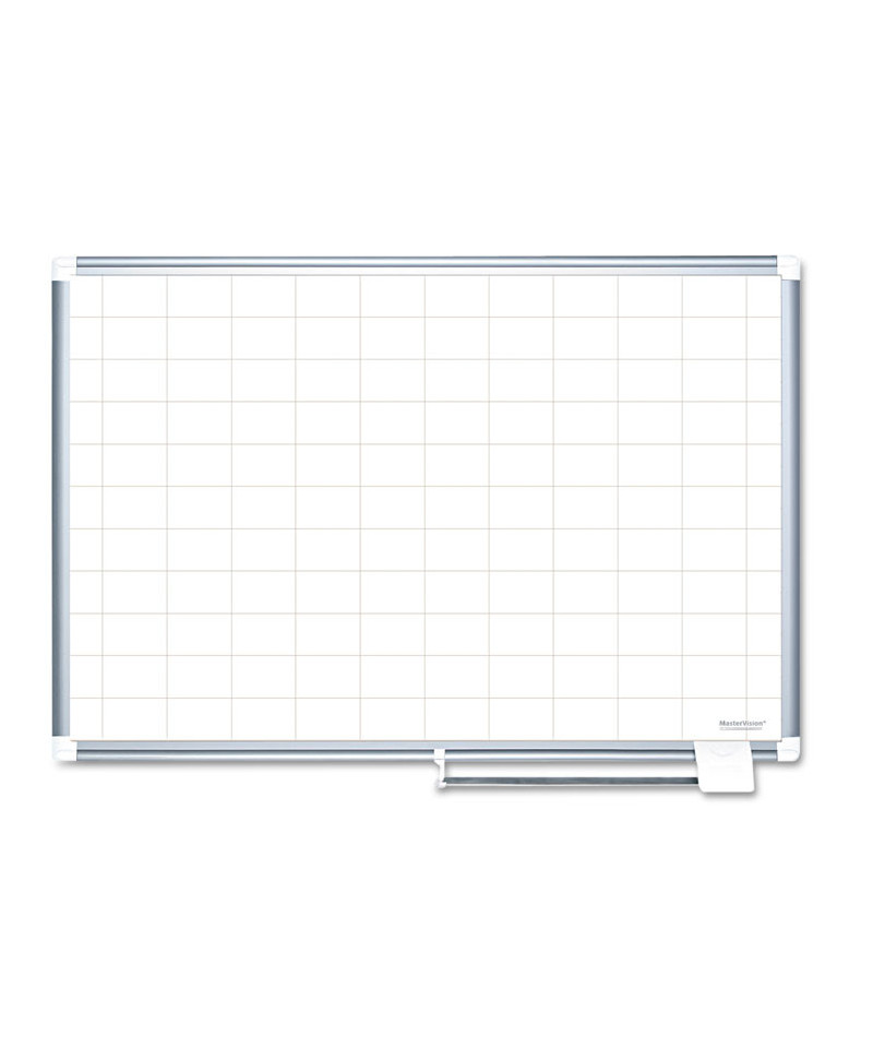 Grid Planning Board, 2 x 3 Grid, 72 x 48, White/Silver