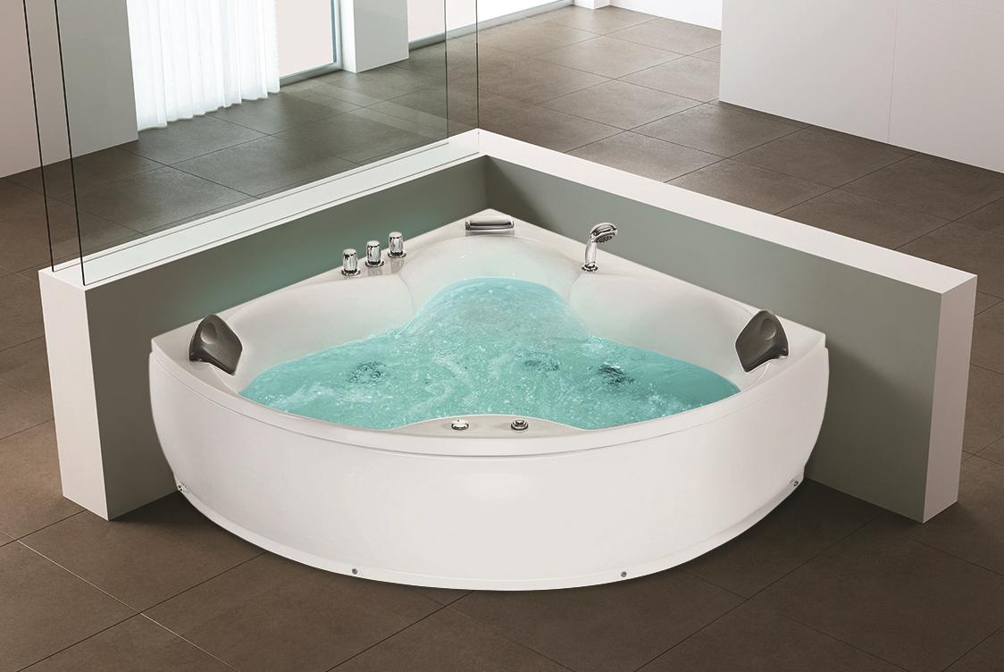 Whirlpool Eck Badewanne Luxus Wellness Bad Eckwanne