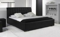 Leder Bett / Polsterbett Farbe weiss oder schwarz ...