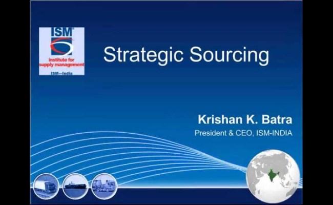 Webinar On Strategic Sourcing World S Largest Community