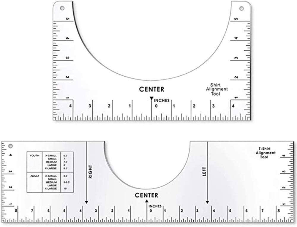 Wholesale T-Shirt Alignment Ruler, T-Shirt Guide Rulers