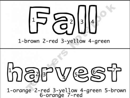 Fall Color-By-Number