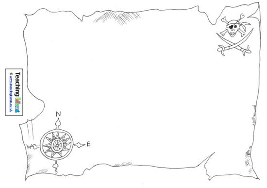 Talk Like A Pirate Day - Design A Treasure Map