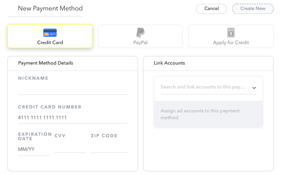 manage payment methods