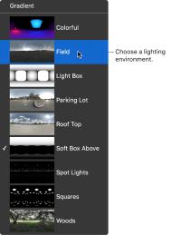 Final Cut Pro X: Modify the lighting environment