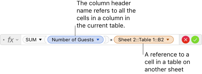 Numbers for Mac: Calculate values using data in table cells in a ...