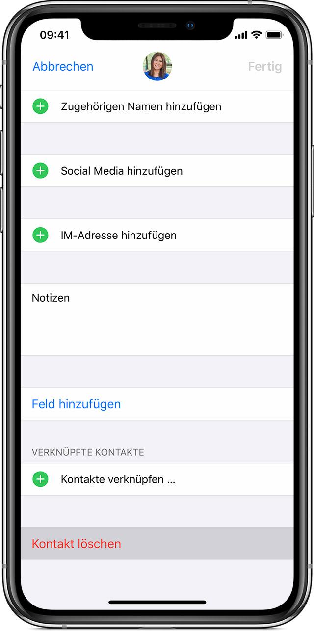 Kontakte auf Ihrem iPhone, iPad oder iPod touch verwalten