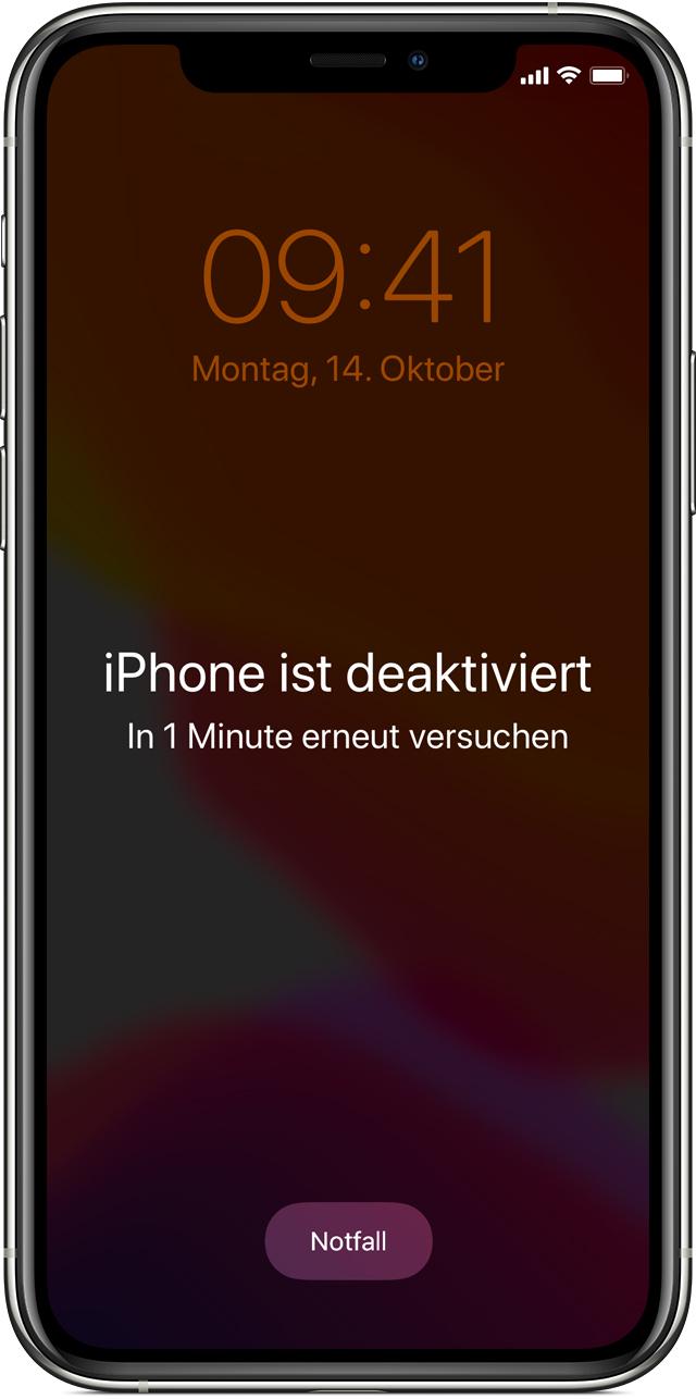 Wenn du deinen iPhone-Code vergessen hast - Apple Support (DE)