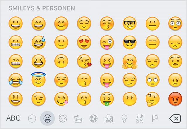 Emoticons Bedeutung
